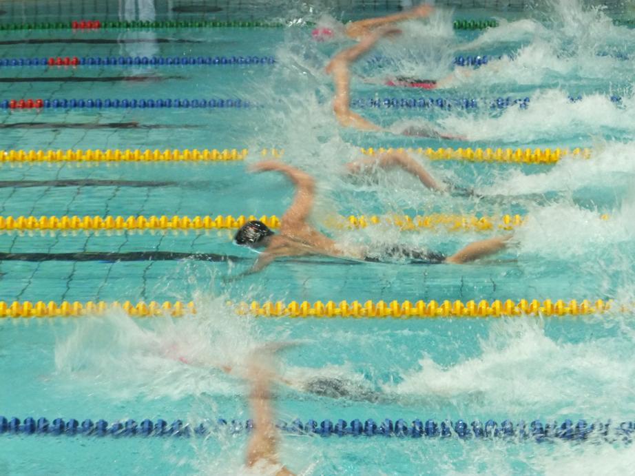 schwimmen-d